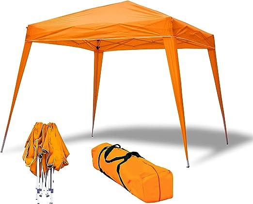 Carpa Plegable 3x3m Compact Naranja de jardín, terraza, Camping, Playa: Amazon.es: Jardín