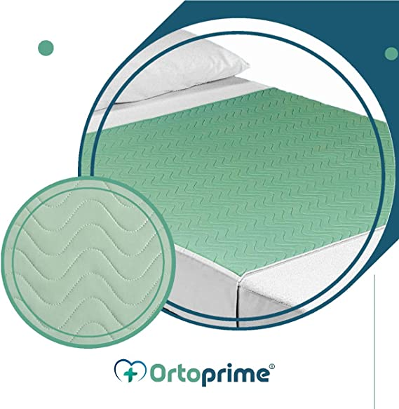 OrtoPrime Pack 2 Empapadores Cama Adultos Lavables Absorbentes 3,15 Litros/m2 - Más de 200 Lavados - Empapadores Impermeables 4 Capas - Empapadores ...