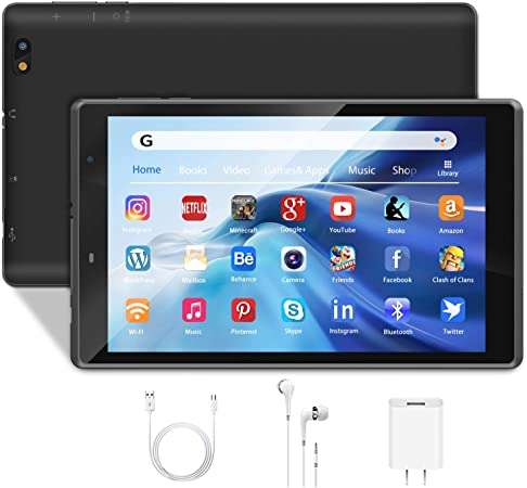 Amazon Com Tablet 8 Inch Android 10 0 Tablet Pc 3gb Ram 32gb Storage 128gb Expandable 1280x800 Hd Ips Display Quad Core Wifi Bluetooth Gps Reading Version Black Computers Accessories