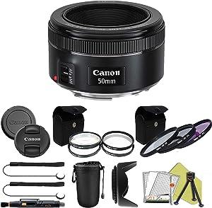 Canon EF 50mm f/1.8 STM Prime Lens ZeeTech Package (Advanced Kit)
