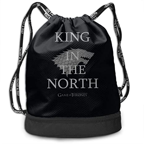b444bf9380 CUSARTSHOP King in The North Game of Throne Outdoor Bundle Backpack  Drawstring Backpack Bags Pack Travel