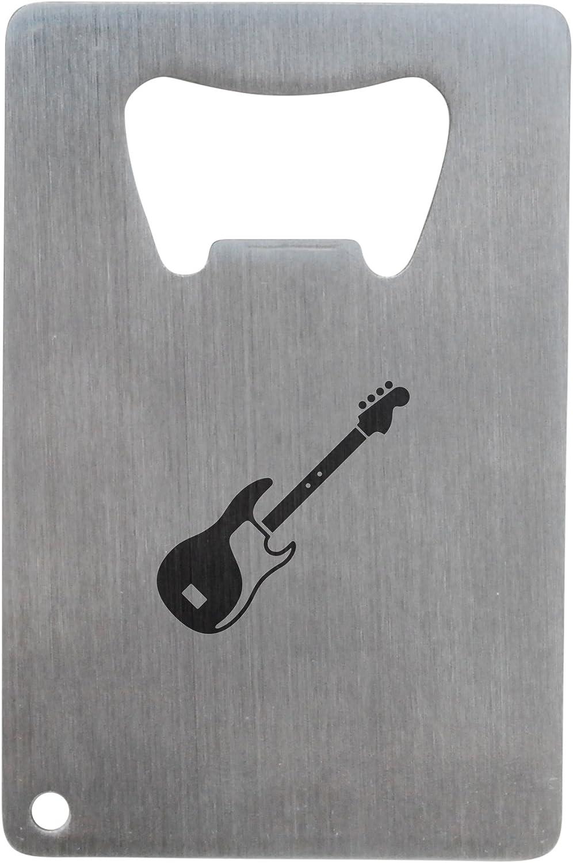 Bass guitarra abrebotellas, acero inoxidable tamaño de tarjeta de ...