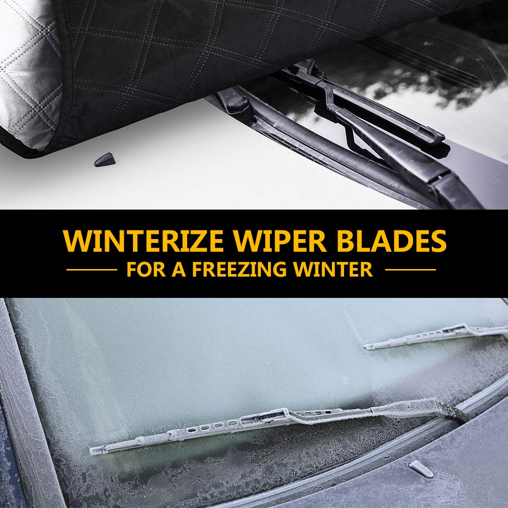 Frostguard Windshield Cover for Truck SUV Van and More Full Protection Anti Ice Windscreen Cover Tchipie Car Windscreen Snow Frost Ice Cover Auto Magnetic Winter Windscreen Frost Protector