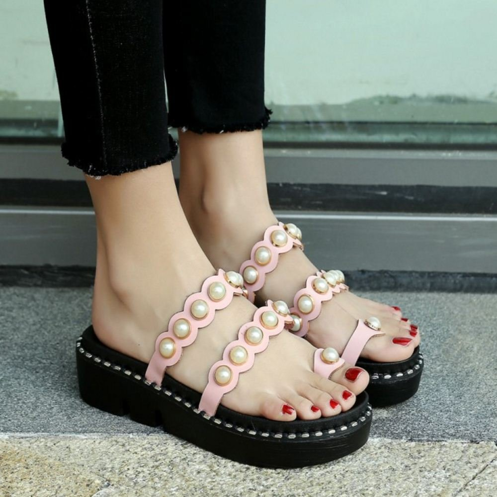 Zanpa Women Sweet Flatform Flatform Sweet Sandals 2 Way B07C2YP9RJ 9.5 US (sole length 26 CM)|4#Pink 0f6322