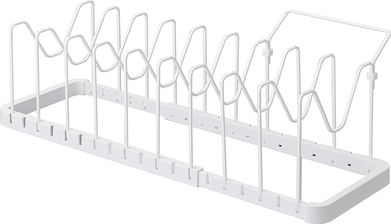 Yamazaki Home Tower Adjustable Lid & Pan Organizer – Kitchen Drawer Storage Shelf Rack