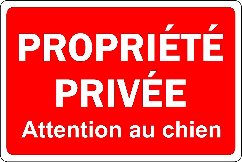 Cartel de Propiedad privada para Perro - Placa de Aluminio 3 ...