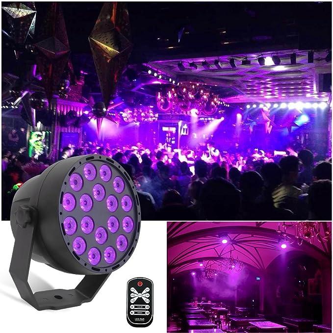 Cabezal de luces LED de luz ultravioleta con 7 modos.