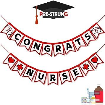 Amazon Com Congrats Nurse Banner Nurse Graduation Party Supplies