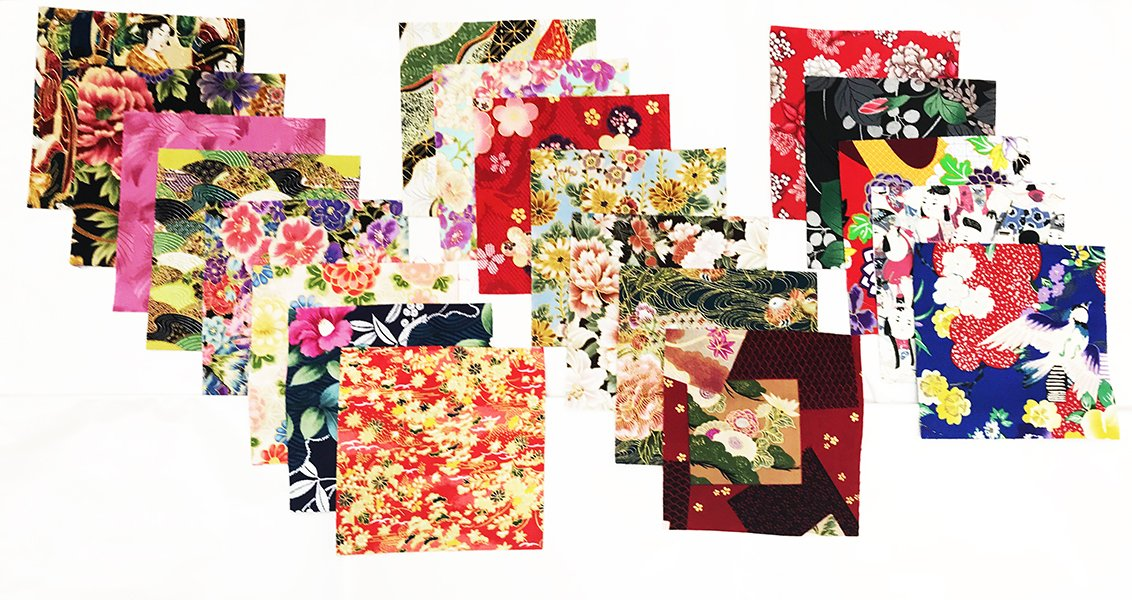 "40-5/""  x 5/"" Squares Asian Japanese Quilt Fabric Charm Pack"