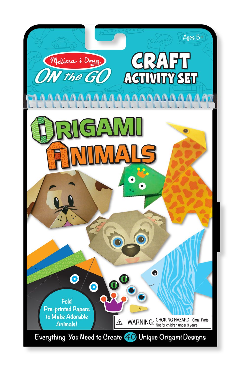 Melissa & Doug On the Go Origami Animals Craft Activity Set - 38 Stickers, 40 Origami Papers Unbound Melissa and Doug 9442