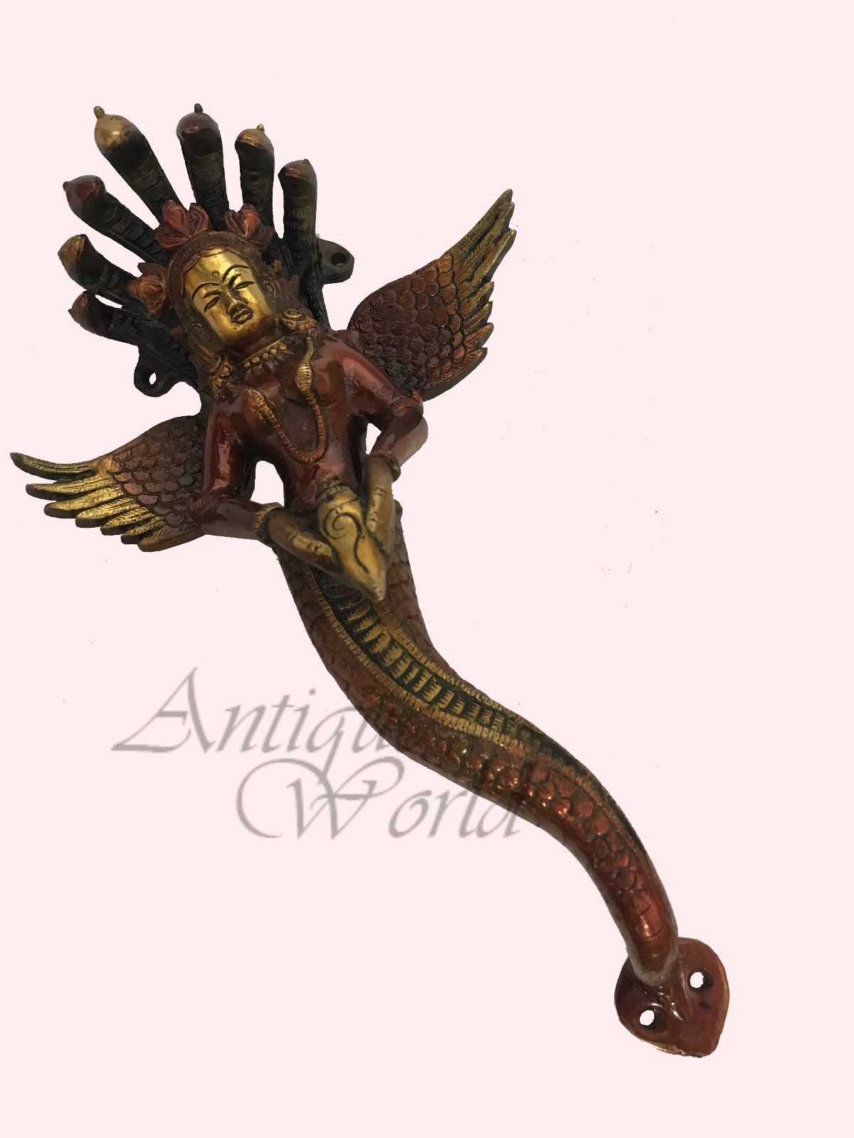 Antiques World Old Ancient's Beautiful Indian Devi Antique Worshipped Lady Vintage Door Handle Nag-Kanya Door Handles AWUSABI 016