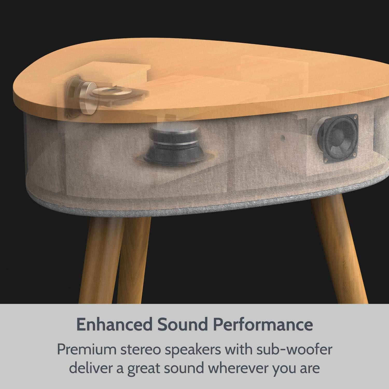 Tragbarer Beistelltisch Bluetooth Lautsprecher Mit Wireless Charger Und Usb Ladeanschluss Couchtisch Ladestation Audio Hifi