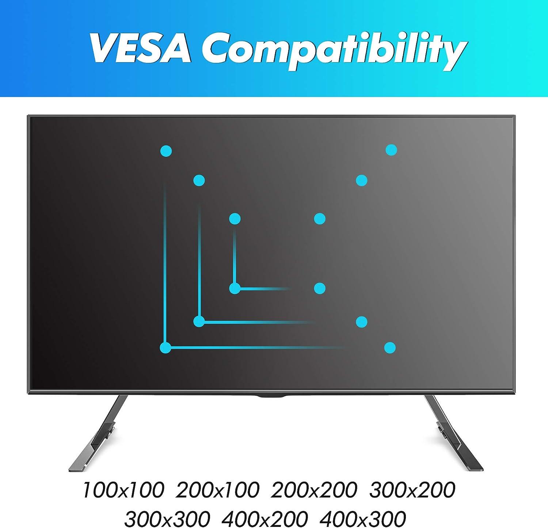 FITUEYES Soporte para TV de 23 a 42 Pulgadas hasta 40kg Inclinable Altura Ajustable Pedestal de TV OLED LCD LED Plasma Plana VESA Máx 400 x 300 mm: Amazon.es: Electrónica