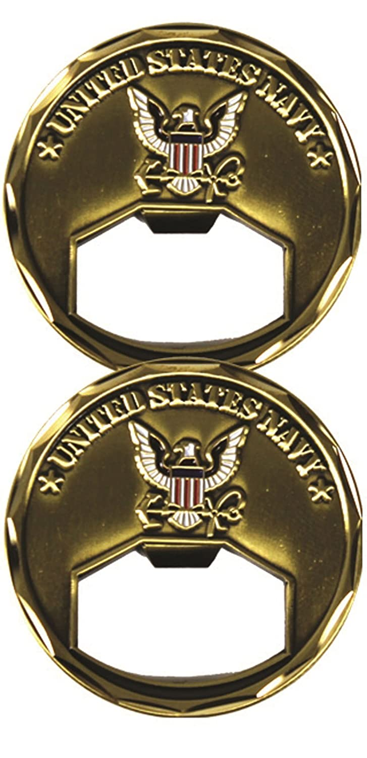 U.S. Navy Insignia Bottle Opener Challenge Coin by Eagle Crest