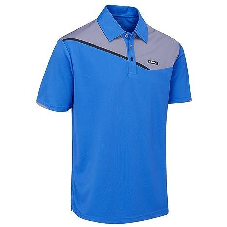 Stuburt 2017 Urban Block Pique DRI-Back Breathable Mens Golf Polo Shirt Midnight Medium SOjwMx