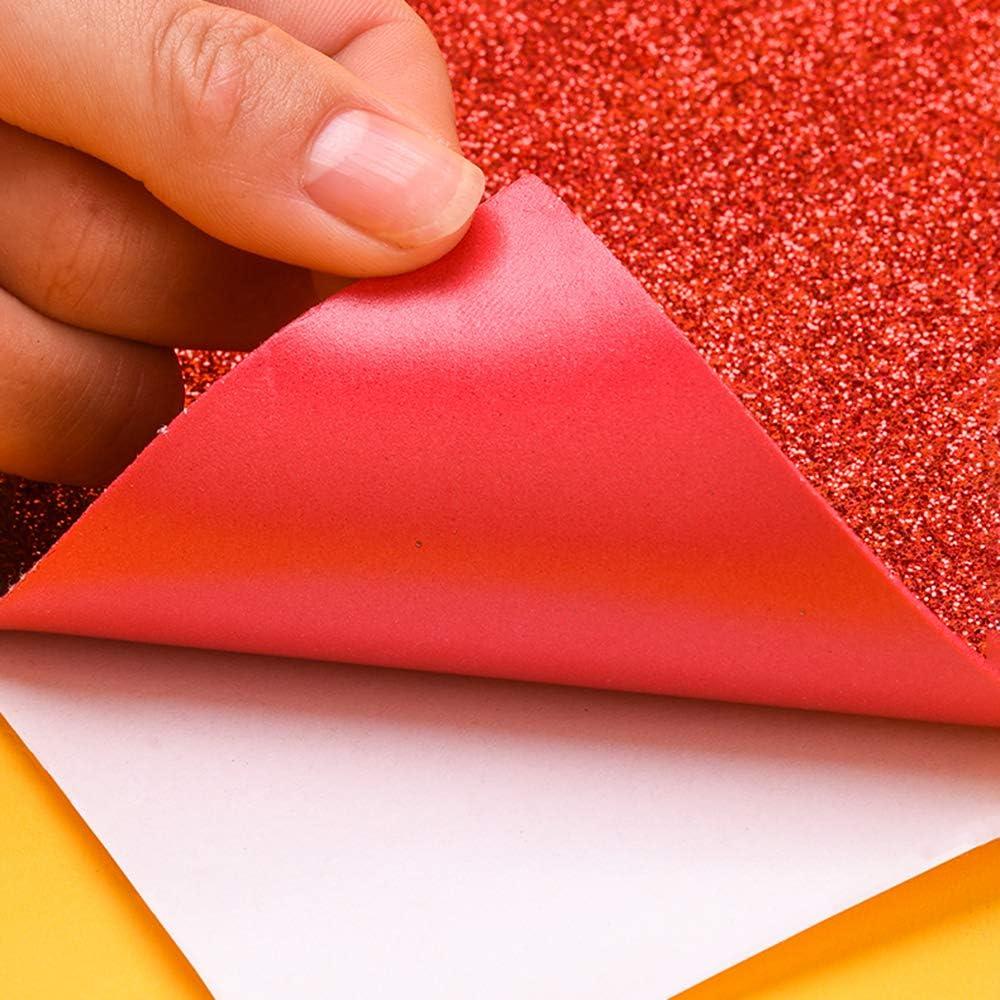 ZJW 6 Motivstanzer 9 Glitzerfolie Selbstklebend Papier Stanzer Glitzer Klebefolie Weihnachten Papierstanzer Motivlocher Gl/änzend Bastelpapier Glitter Deko Folie Dekopapier Dekofolie Bastelfolie