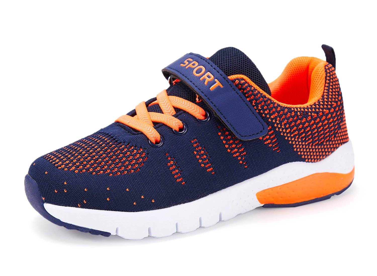 Caitin Kids Running Tennis Shoes Lightweight Casual Walking Sneakers for Boys and Girls, 1#orange, 13 M US Little Kid