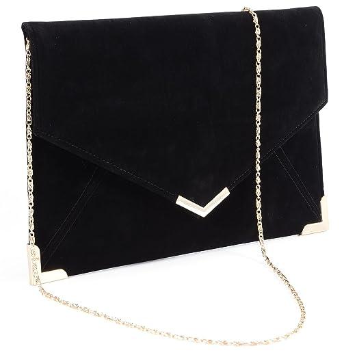 da3714d3b4 Faux Leather Wedding Envelope Large Evening Clutch Bag Women Bag Shoulder  Bag