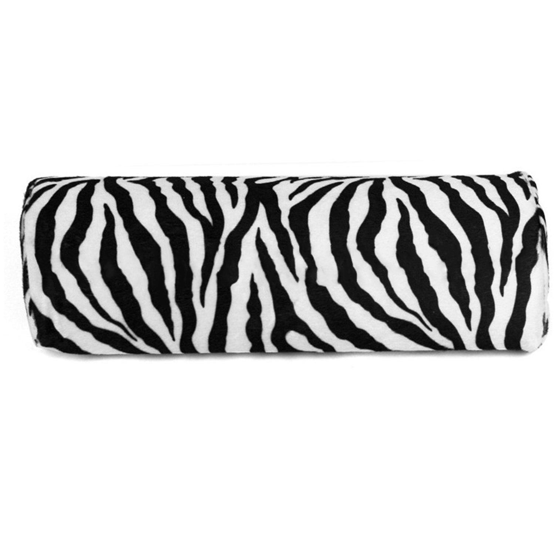 Zebra Stripe Hand Rest Soft Cushion Pillow Nail Art Design Manicure Half Column Elisona