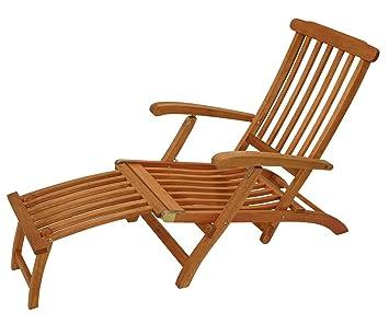 Gartenliege klappbar holz  lifestyle4living Deckchair, Liegestuhl, Terrassenstuhl, Gartenstuhl ...