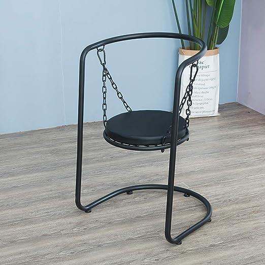 Sencilla silla de columpio sin respaldo, moderna, con cojín ...