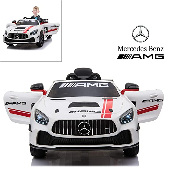 Amazon.com: Mercedes Benz AMG GT4 Electric Ride On Car with ...