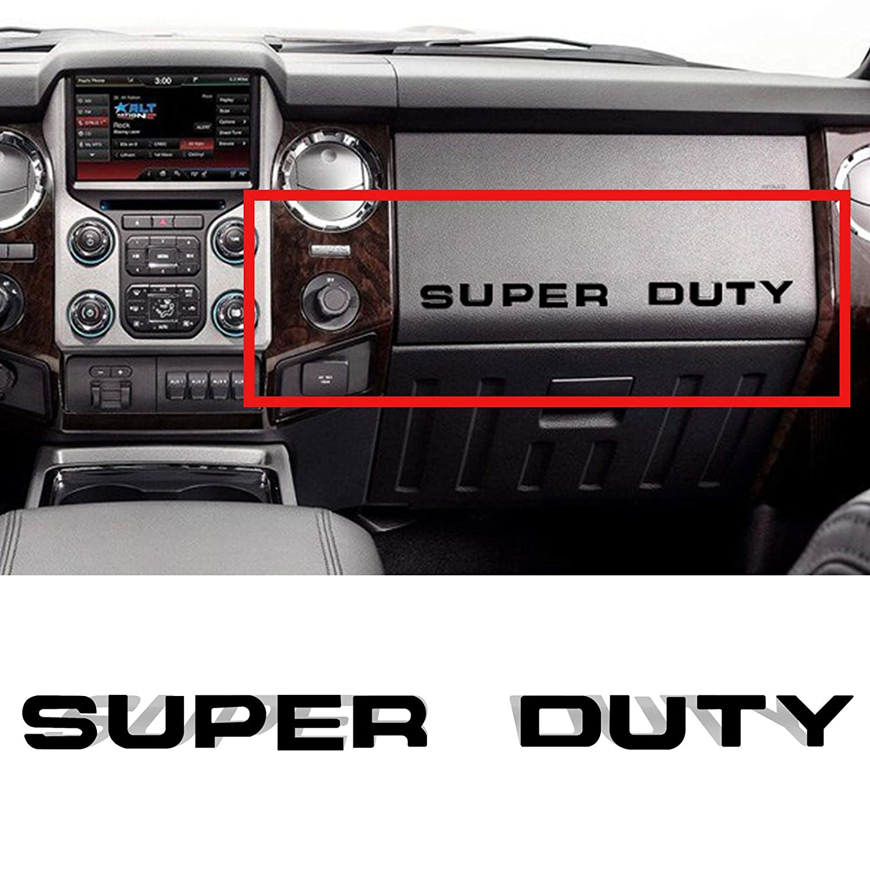 YaaGoo Dashboard Glove Box Insert Letter Sticker,Matte Black,Fit for Super Duty 2008-2016 Yi Tech Industry Ltd