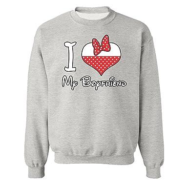 Most Popular Cute Halloween Costume I Love My Boyfriend Sweatshirts for  Women and Men Unisex Sweaters