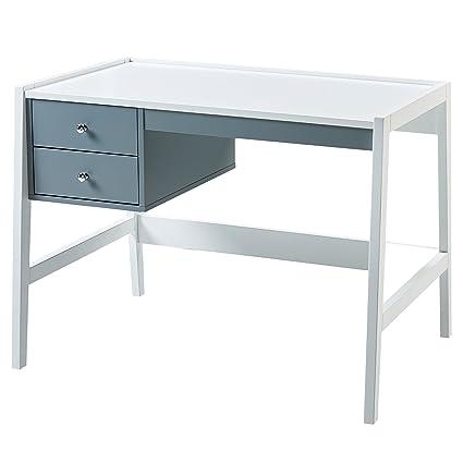 Versanora VNF-00009 Space Saver Modern & Stylish Minimalista Single Desk-White/Grey