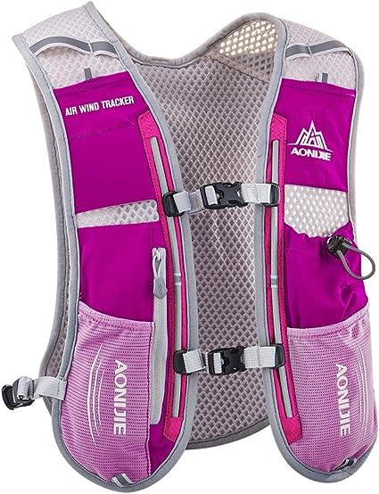 Amazon Com Aonijie Hydration Vest Pack Backpack 5l Marathoner Running Race Hydration Sports Outdoors