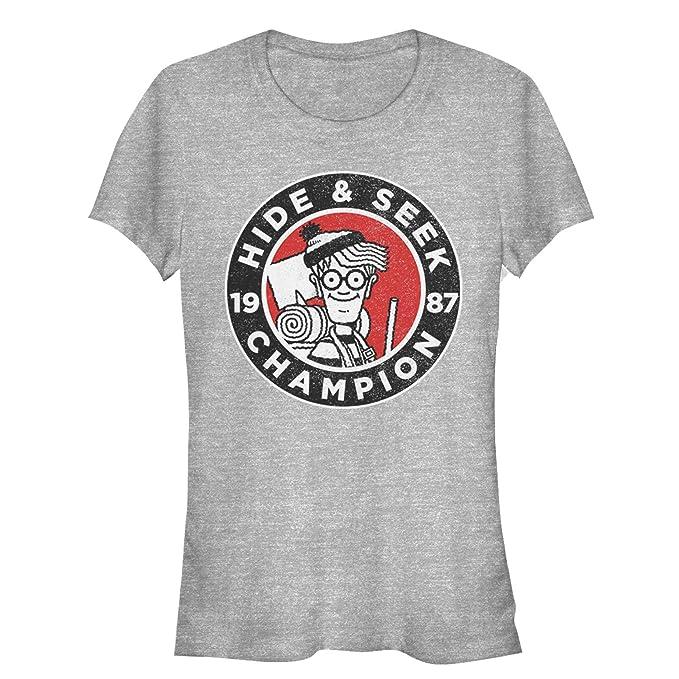 7ddd2792 Where's Waldo Juniors' Hide and Seek Champion Athletic Heather T-Shirt