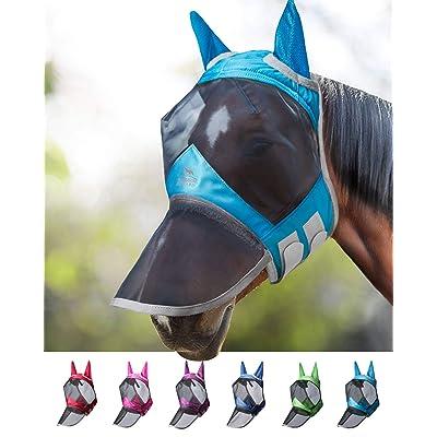 Harrison Howard CareMaster Pro Fly Mask Full Face No Ears Moonlight Silver S; Pony