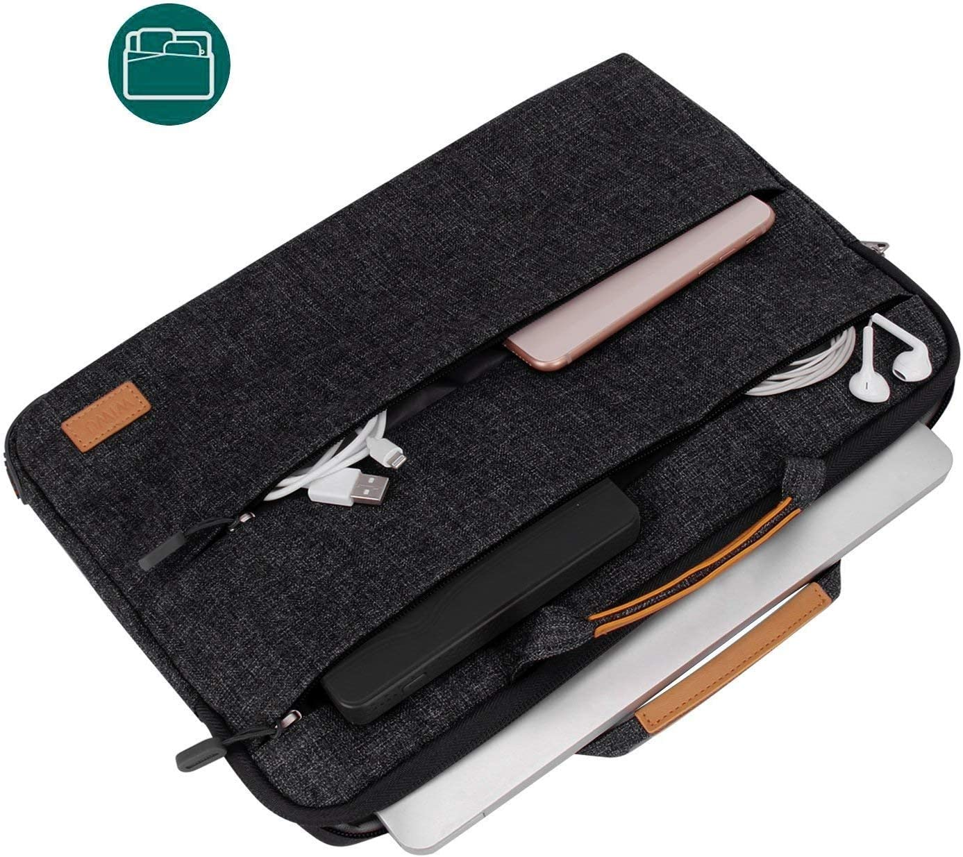 15.4 inch, Black WIWU 15 inch Laptop Sleeve Case Stand Features MacBook Pro 15 in//New Surface Book 2 15//Dell XPS 15//HP Envy Spectre//Asus ZenBook UX550VE//Carrying Case Handle