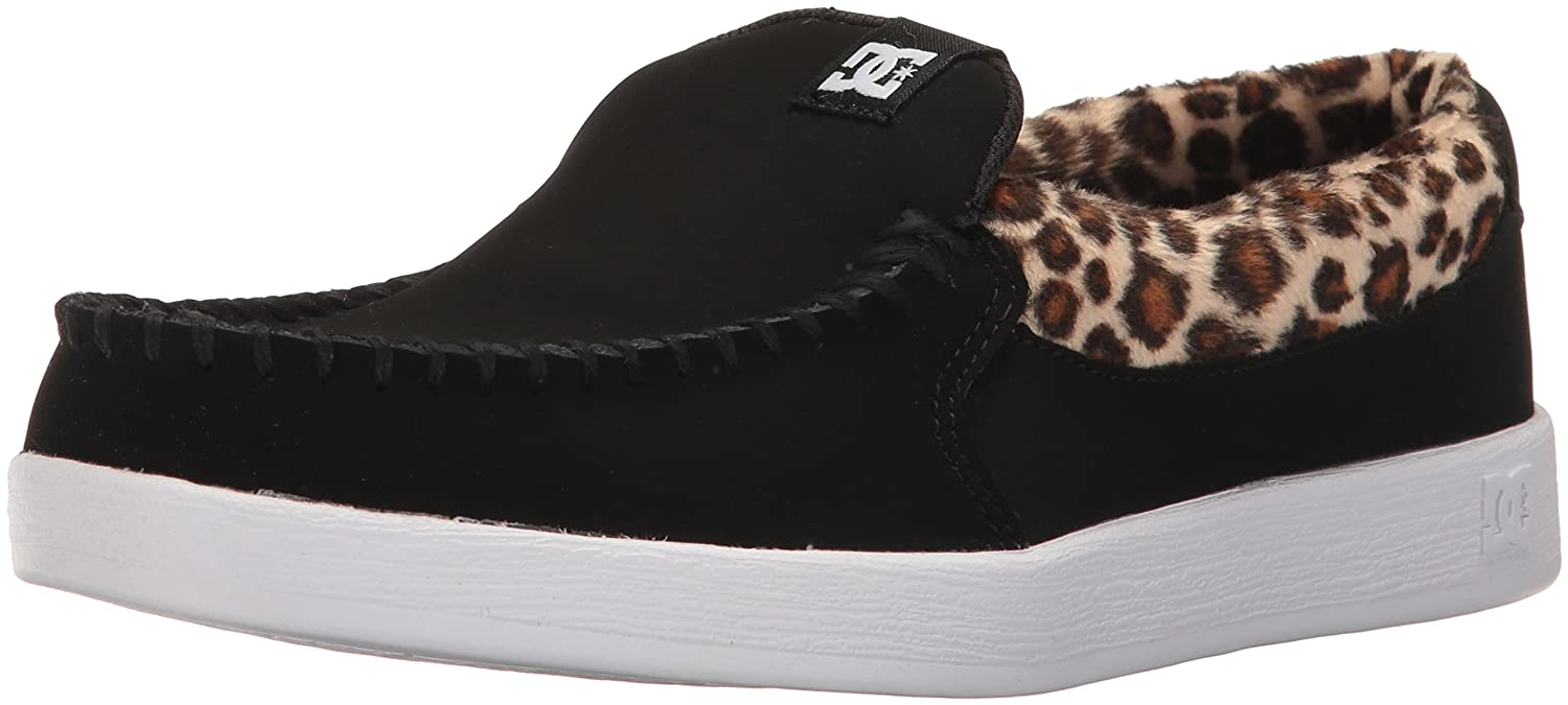 DC Women's Villain SE Slip-on Skate Shoe B01MQWBZKX 5 B(M) US|Black/Leopard