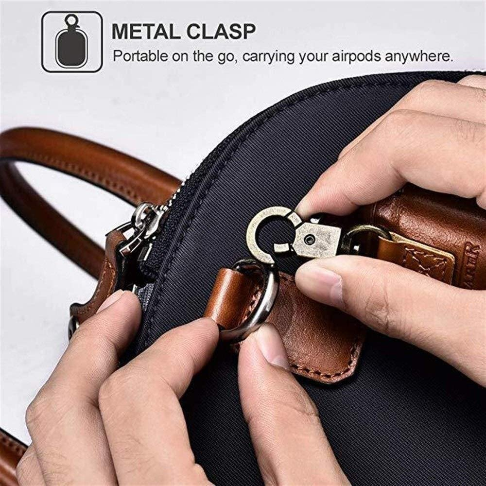 Color : Black HNSYDS Leather Anti-Lost and Fall-Proof Wireless Bluetooth Headset Charging Box Cover Four Colors Can Choose Wireless Bluetooth Headset