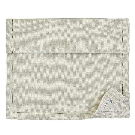Linen & Cotton - Camino de Mesa Muy Elegante de Tela Beige OXFORD ...