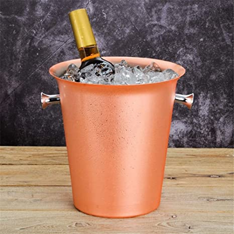 Amazon.com: Cubo de hielo de acero inoxidable chapado en oro ...