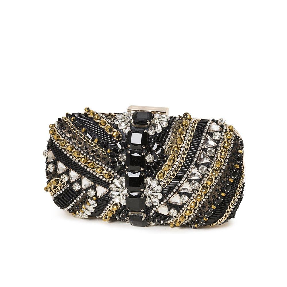3e5ed694f8 XINDI Black evening Clutch Bags Women Crystal Rhinestone bag formal dress  handbagsBeads clutch black friday sales 2018