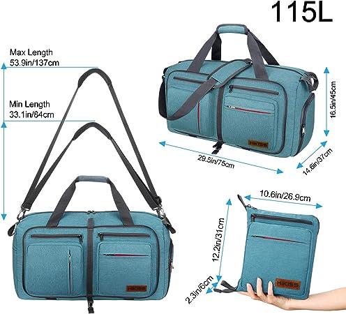 FAJRO Duffle Bag for Women Men Watercolor Flowers Big Beak Travel Duffel Bag Large Size Water-proof Tear Resistant