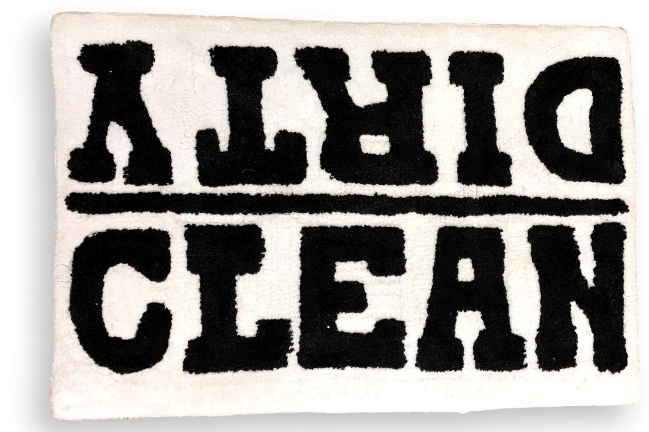 Gypsy Dreamer Microfiber Bath Mat Throw Rug Slip Resistant Backing Cotton Blend Clean Dirty 30 by 21