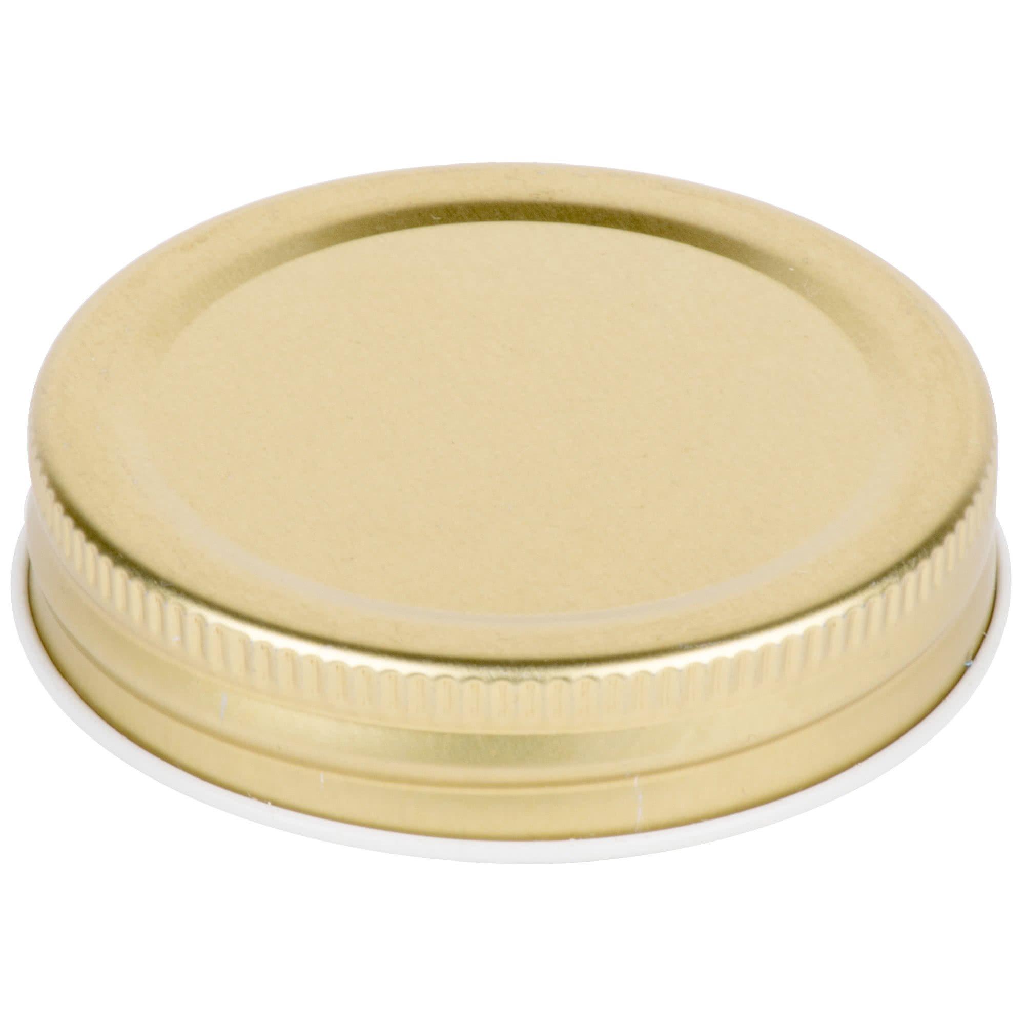 TableTop King Gold Metal Drinking Jar Lid 12/Pack
