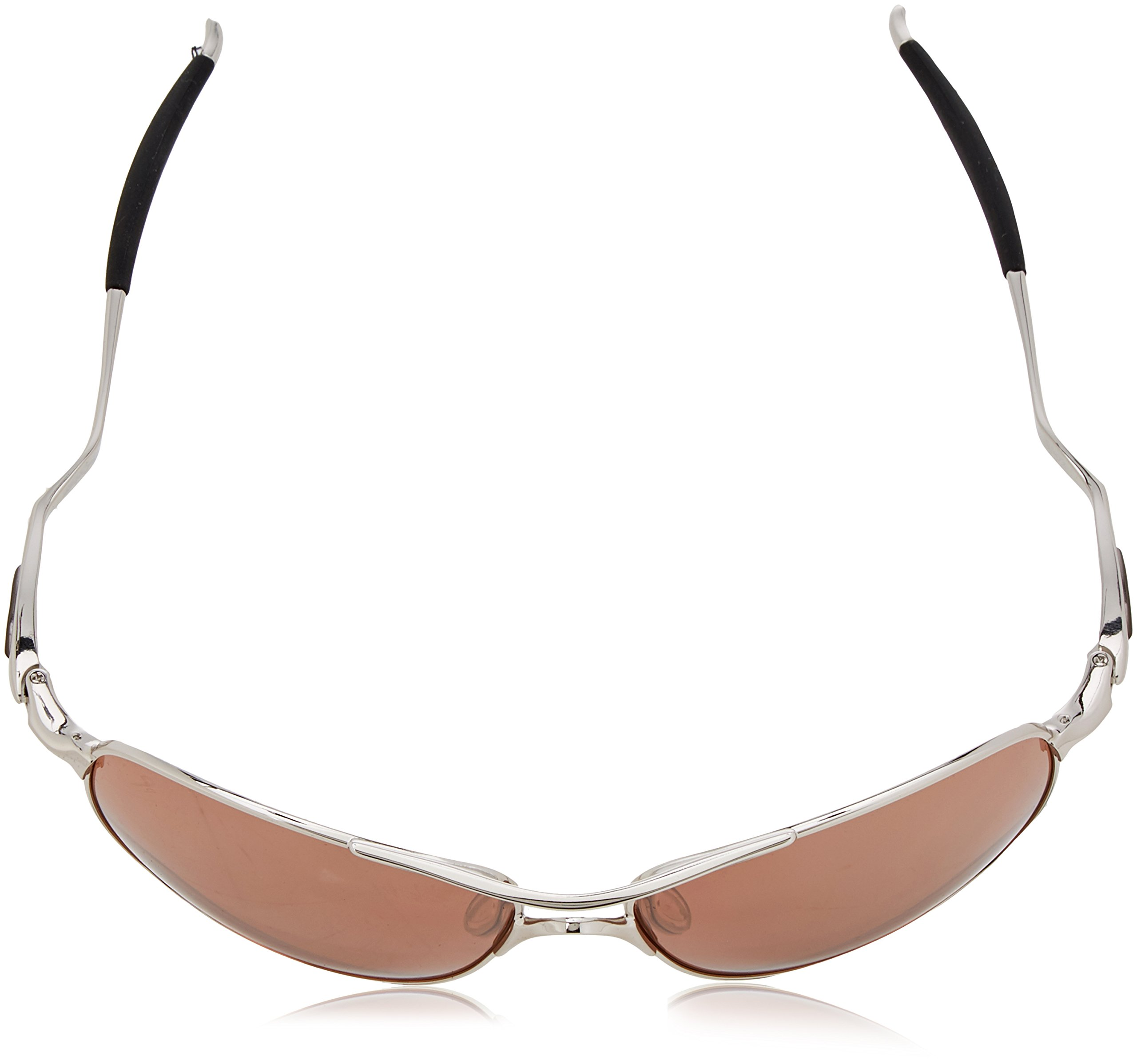 Oakley Mens Crosshair OO4060-02 Iridium Non-Polarized Oval Sunglasses,Chrome Frame/VR28 Black Iridium Lens,one size by Oakley (Image #4)