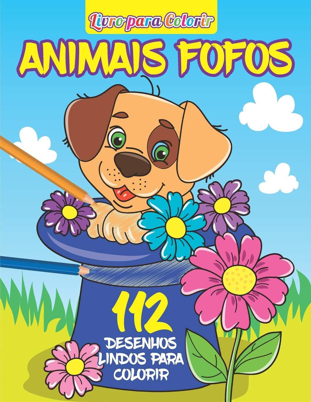 Livro Para Colorir Animais Fofos Portuguese Edition Shekel