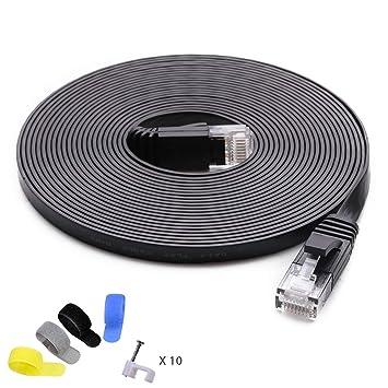 Amazon.com: Cable de red Ethernet Cat 6 (ancho de banda más ...