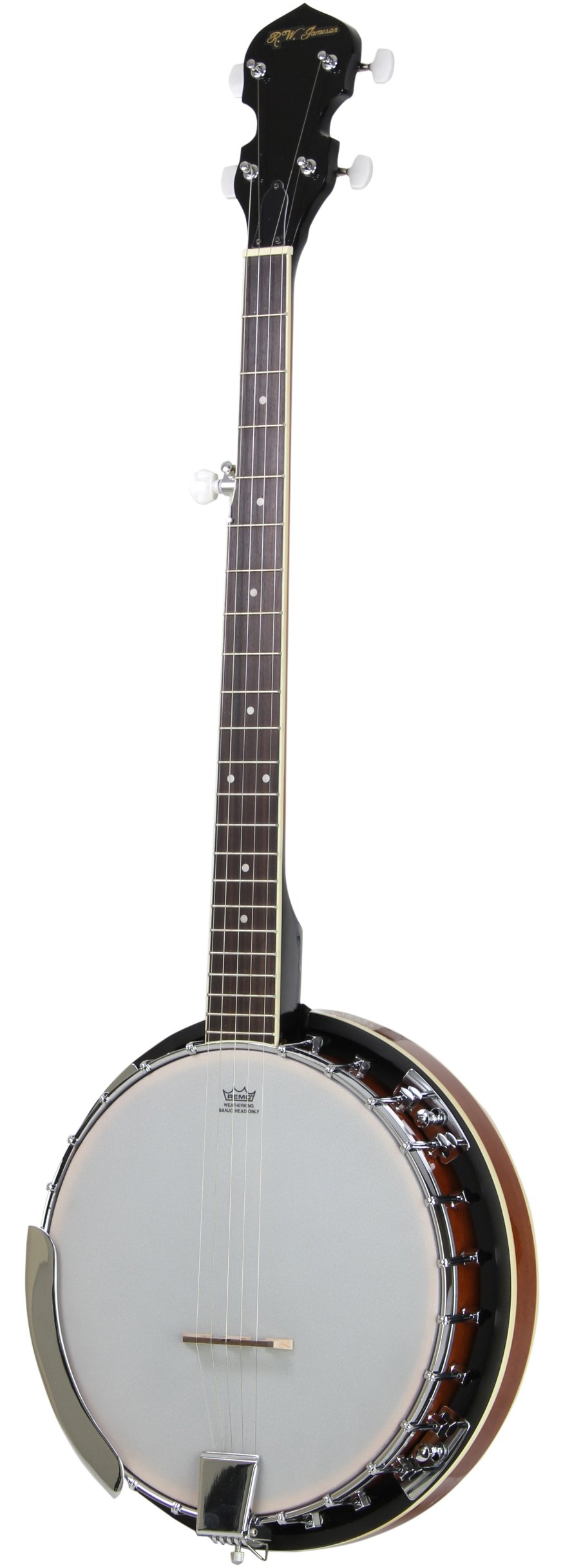 5-String Banjo 24 Bracket with Closed Solid Back and Geared 5th Tuner By Jameson Guitars by Jameson Guitars