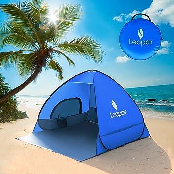 leapair sol refugio tienda de campaña instantánea fácil Pop Up playa paraguas deporte automático instantánea portátil