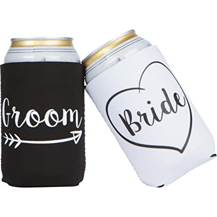 Amazon Cute Wedding Gifts Bride And Groom Novelty Can Cooler