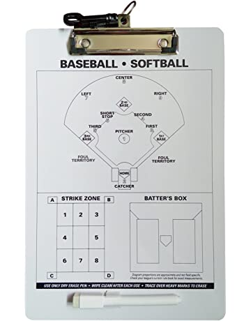 Odowalker Baseball Clipboard Softball Lineup Board Coach Tactics Board Coachs Traning Aid Match Plan Strategy Notebook