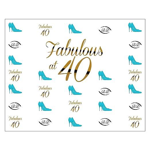 Happy Birthday Fabulous at 40 - Fondo para fotografía ...