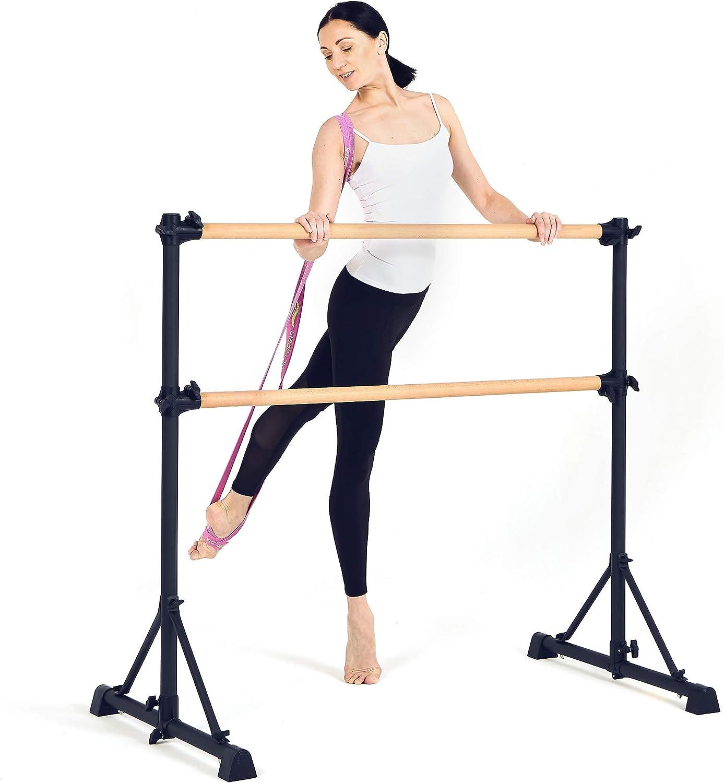 Victorem Ballet Barre Portable for Home - 4 FT. Portable Ballet Bar for Ballet, Dancing or Stretching, Barre Bar for Adults - Bonus Resistance Bands Included